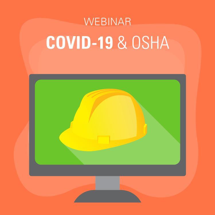 COVID-19 & OSHA safety hat cartoon