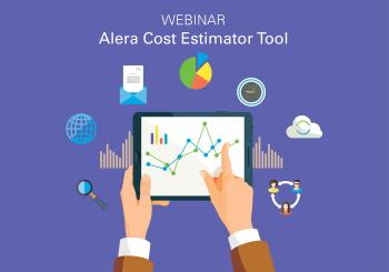 Alera cost estimator tool (graph on tablet)